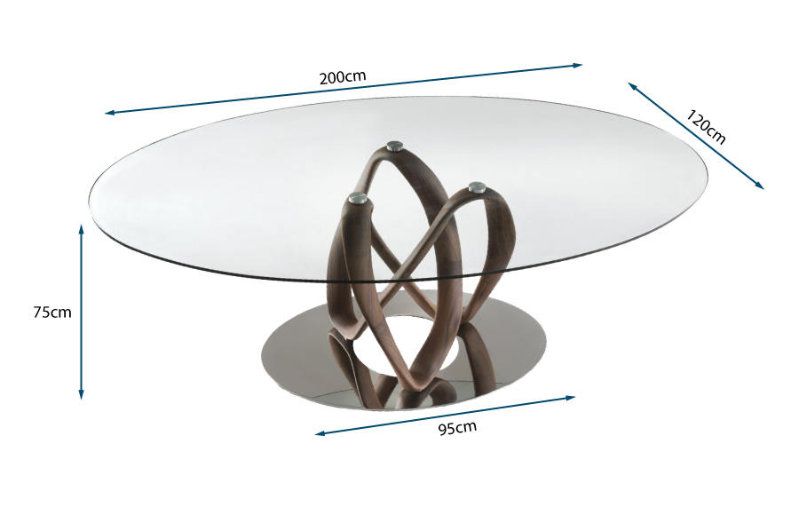 Infinity Elliptical Table