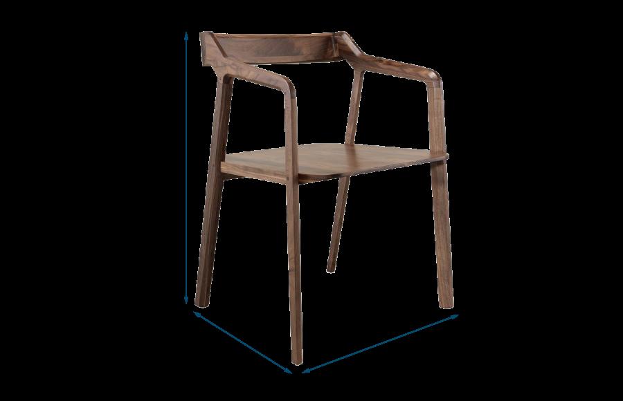 Kundera Chair Walnut