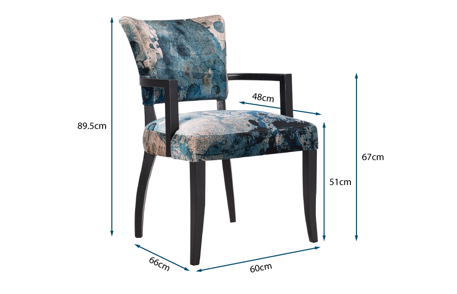 Mimi Wide Arm Dining Chair