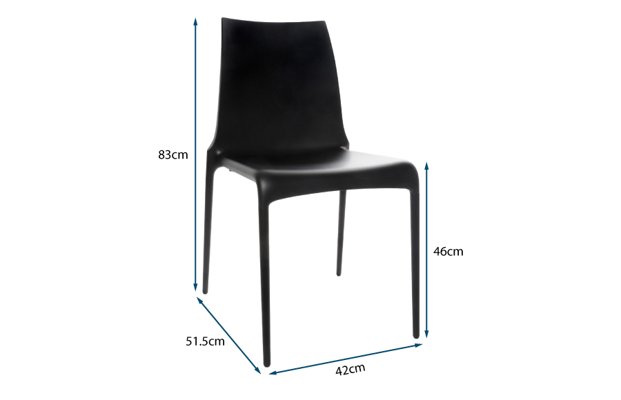 Petra Dining Chair Black