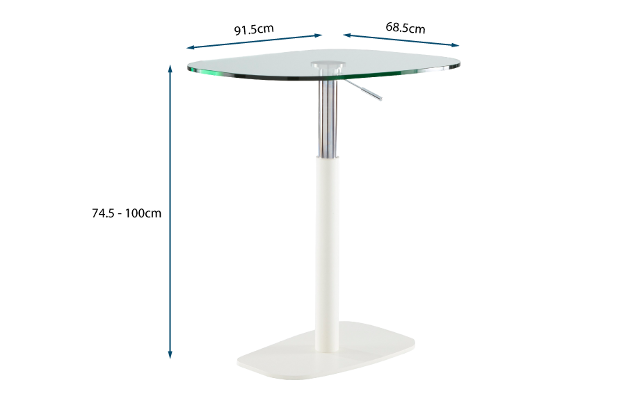 Piazza Table in White