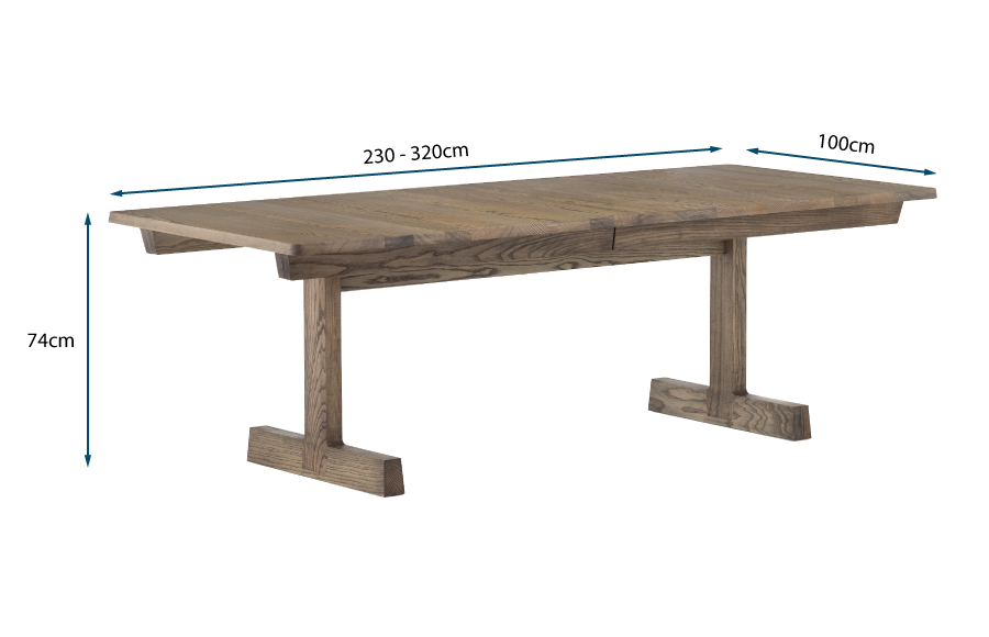 Refectory Extending Dining Table