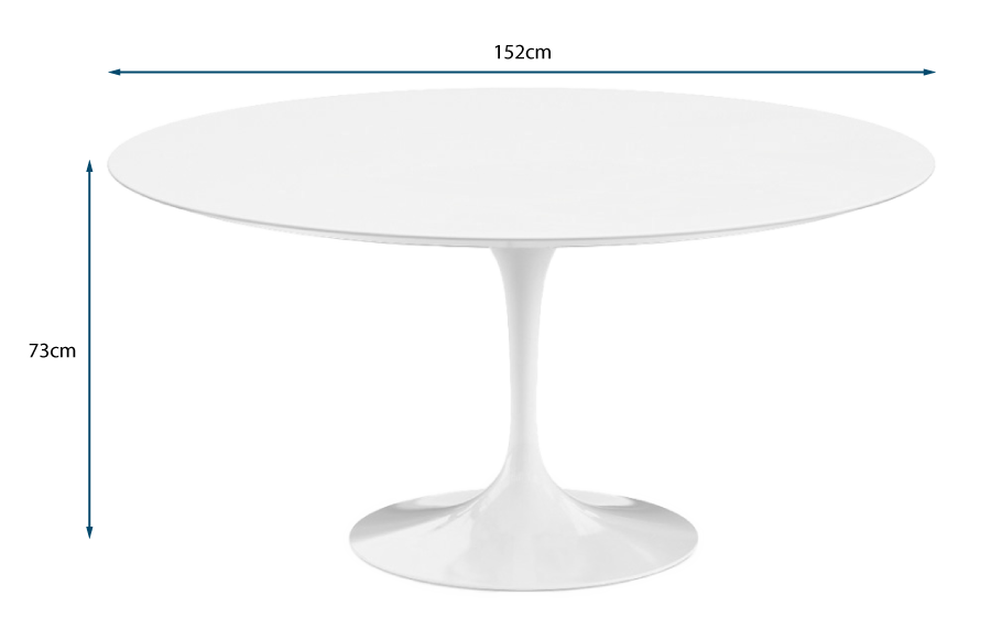 Saarinen Tulip Round Dining Table Large