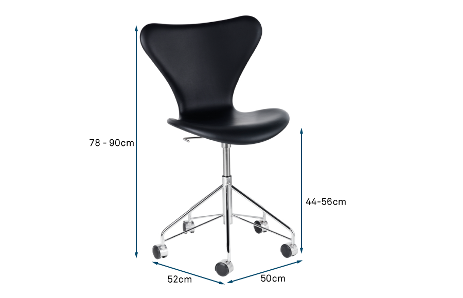 Series 7 Fully Upholstered Swivel Chair Leather