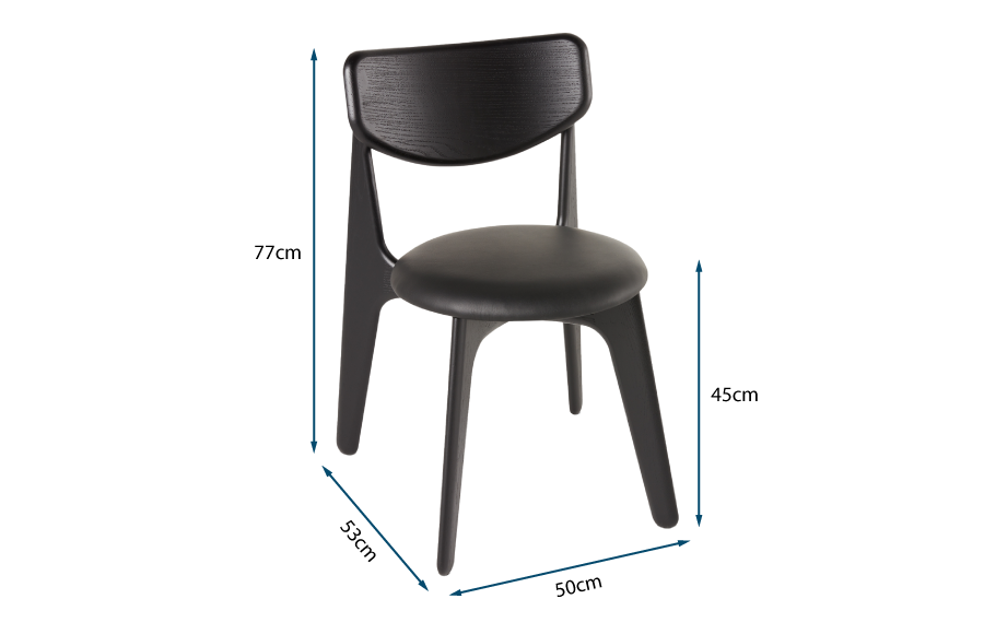 Slab Dining Chair Black