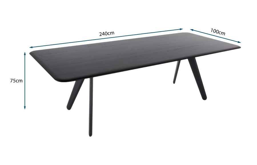 Slab Dining Table Black