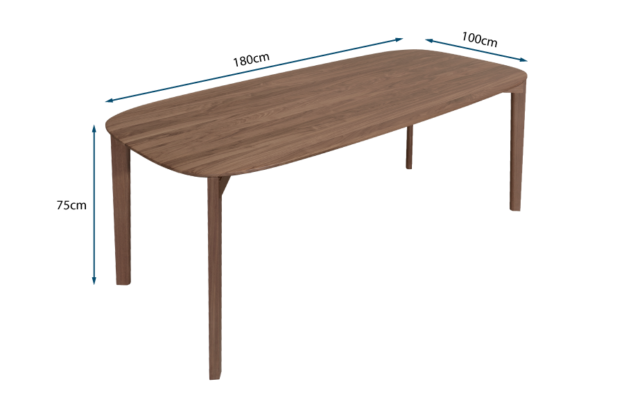 Soma Dining Table Walnut