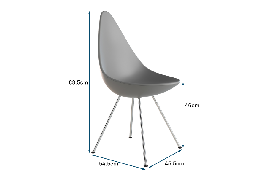 Drop Chair Chrome Legs