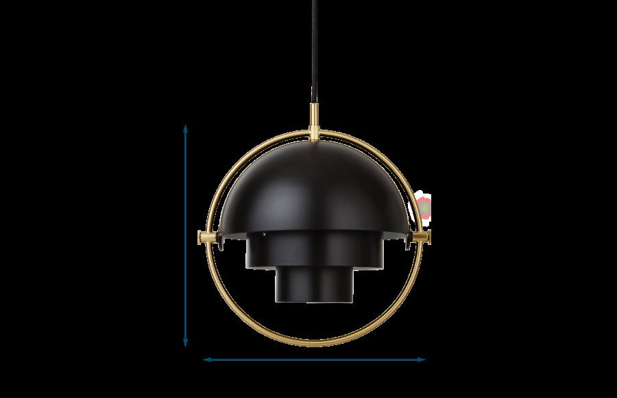 Multi Lite Pendant Brass Frame