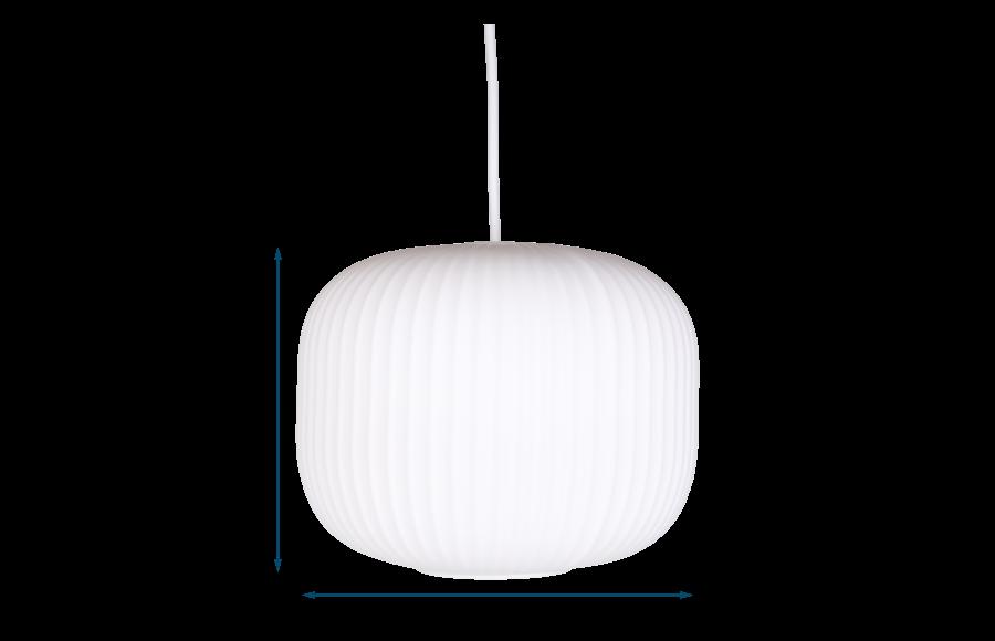 Opal Lantern Pendant Short Light