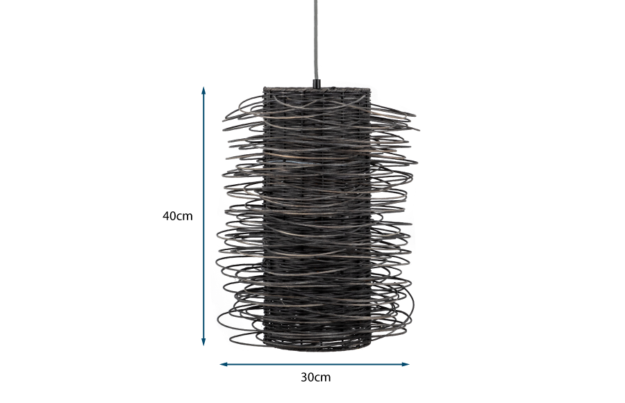 Rattan Scribble Pendant Light