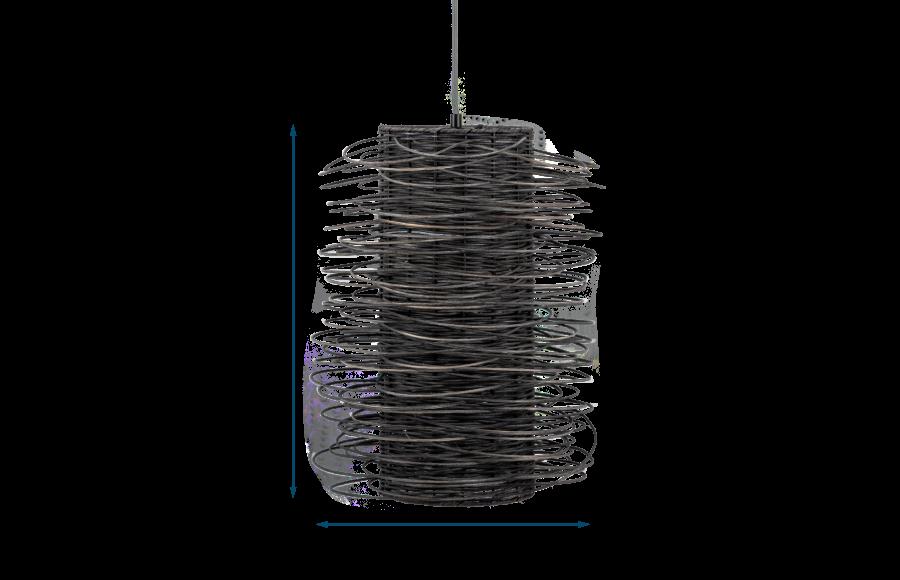 Rattan Scribble Pendant Light