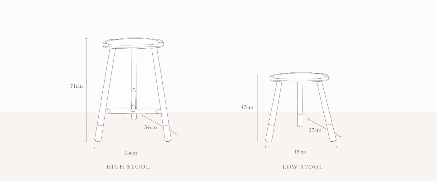 Whitstable Low stool
