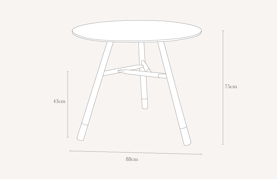 Heals Whitstable 4 6 Seater Circular Dining Table : whitstableroundtable technical1 from www.heals.com size 900 x 581 png 10kB